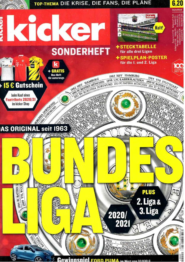 kicker Sonderheft Bundesliga 2020/21